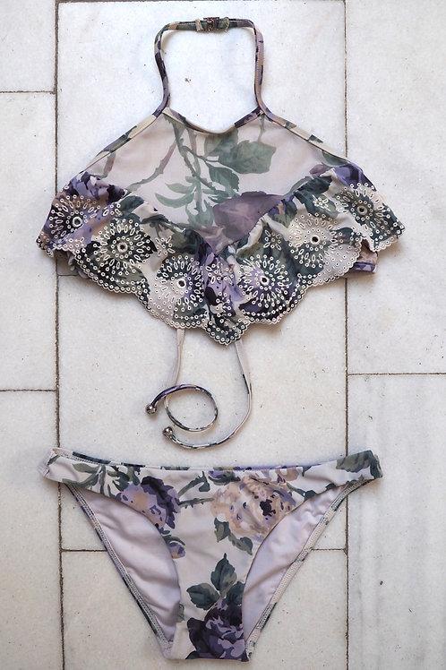 ZIMMERMANN Lace and Mesh Bikini