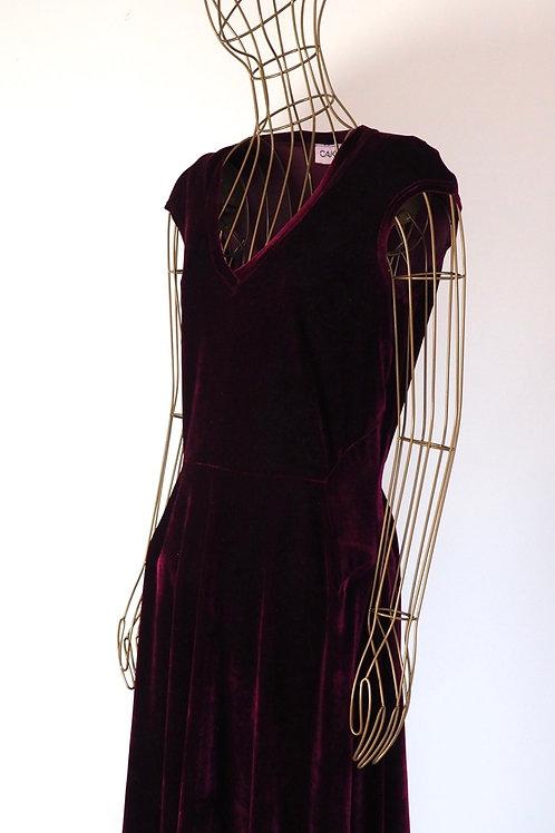 CAKO Burgundy Velvet Dress