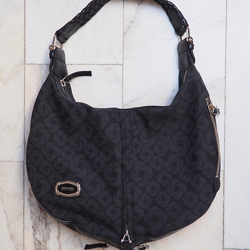 SAMSONITE Logo Canvas/Leather Bag