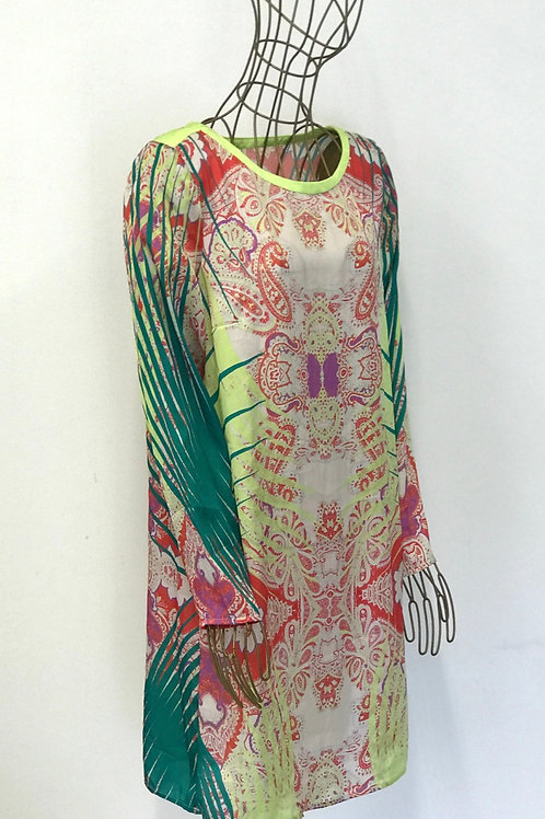 Mango Oriental Printed Dress