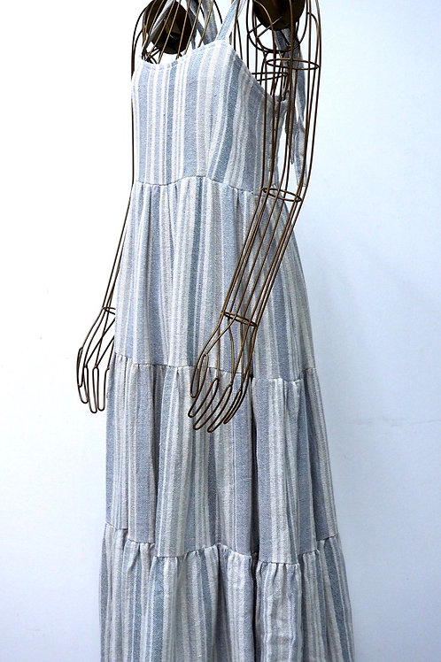 KAMALA KAFTAN Striped Cotton Dress