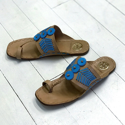 TORY BURCH Ethnic Leather Slippers