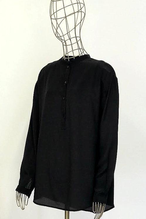 Zara Black Silk Blouse