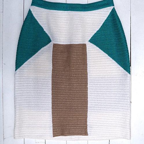 USE UNUSED Woven Colorblock Skirt
