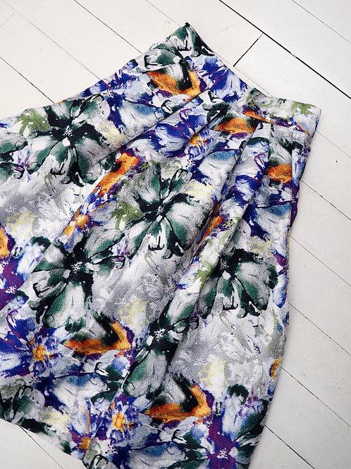 H&M Flower A-line Skirt