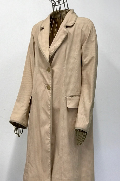 GUI Striped Trenchcoat