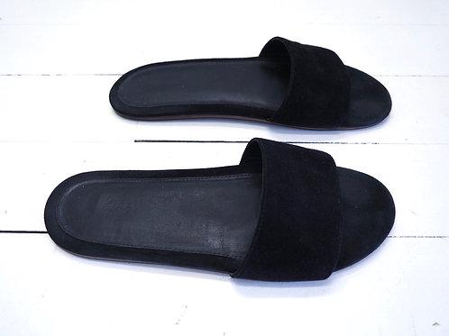 NANUSHKA Black Suede Slippers