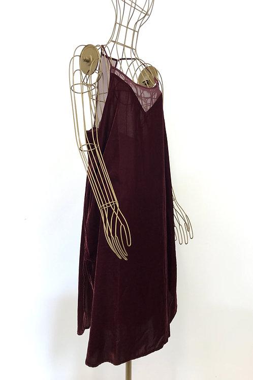 DKNY Negligee Velvet Dress