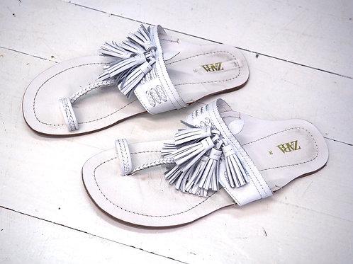 ZARA Fringe Leather Slippers