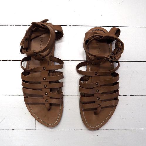 MANGO Leather Gladiators