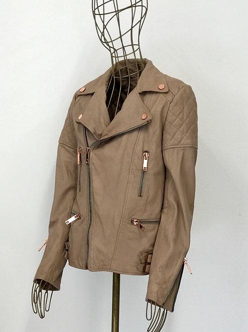 Twenty8twelve Nude Pink Leather Jacket