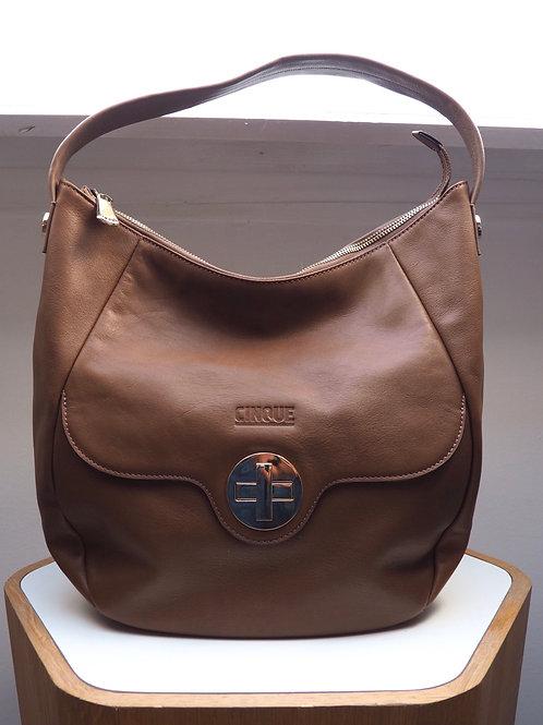 CINQUE Brown Leather Shoulder Bag