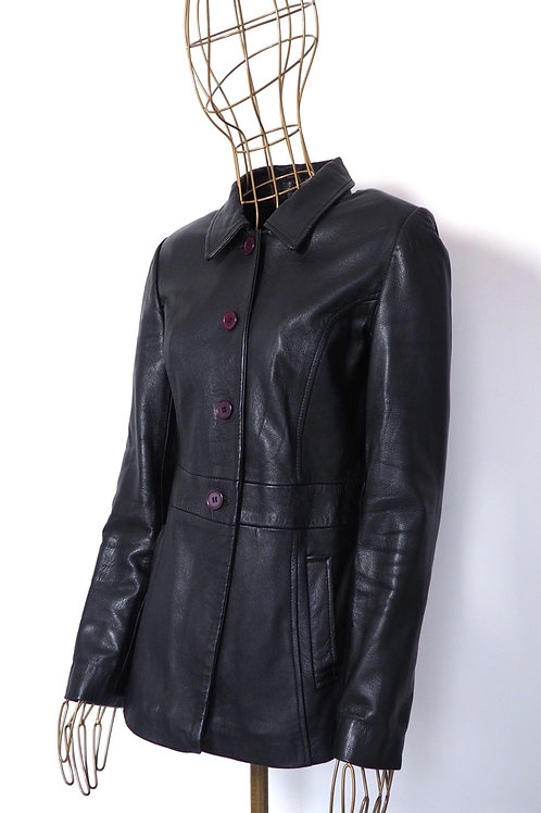PHILIP RUSSEL Buttoned Leather Jacket