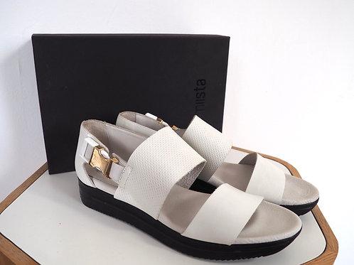 MIISTA White Leather Sandals