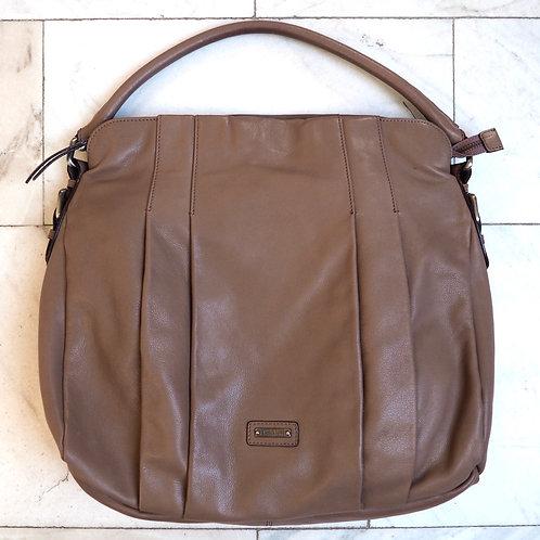 MAX MARA Grey/Brown Leather Shoulder Bag