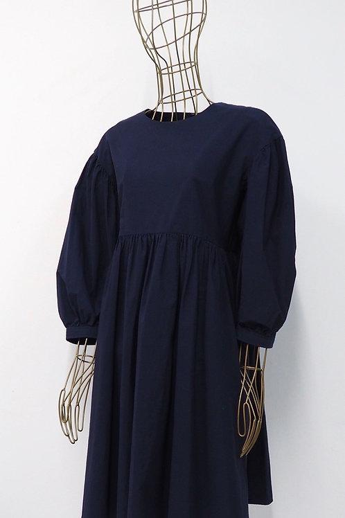 COS Darkblue Puff Sleeve Dress