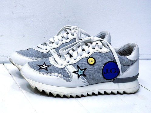 JOHN GALLIANO White/Grey Melange Sneakers