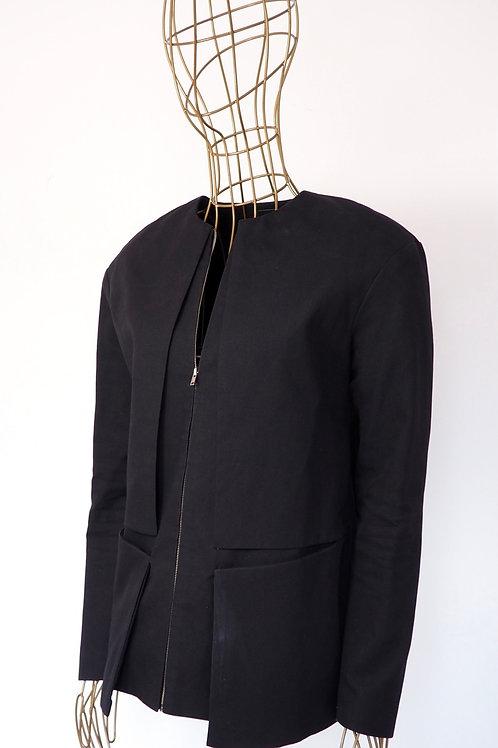 NUBU Paneled Black Jacket