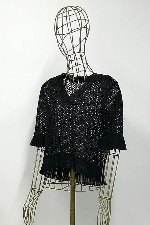 Sandro Crocketed Top