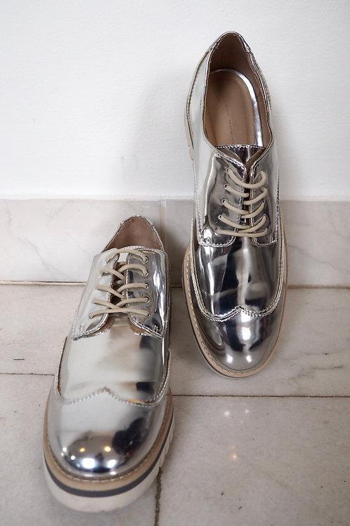 ZARA Silver Oxford Shoes