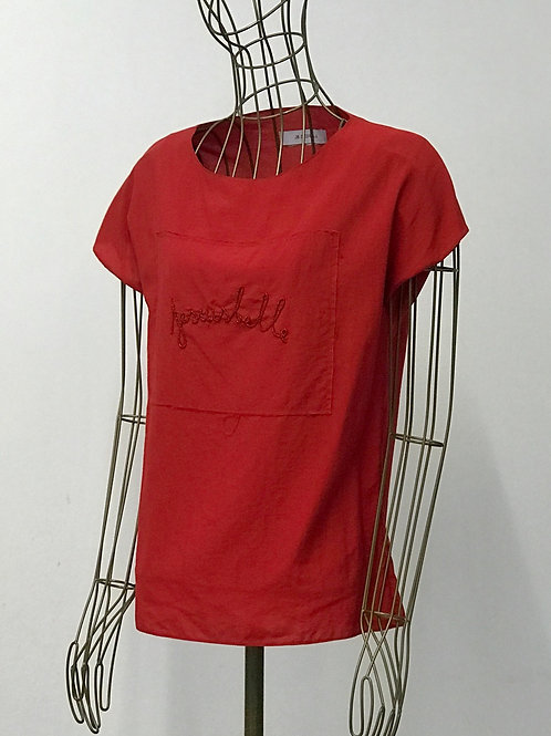 JE SUIS BELLE Embroidered Top