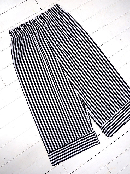 CHARGET Striped Culotte