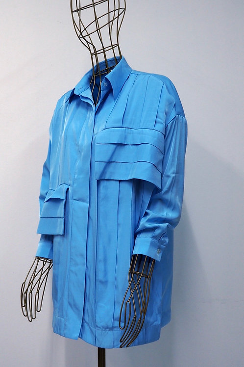 TOMCSANYI Structured Skyblue Shirt/Tunic