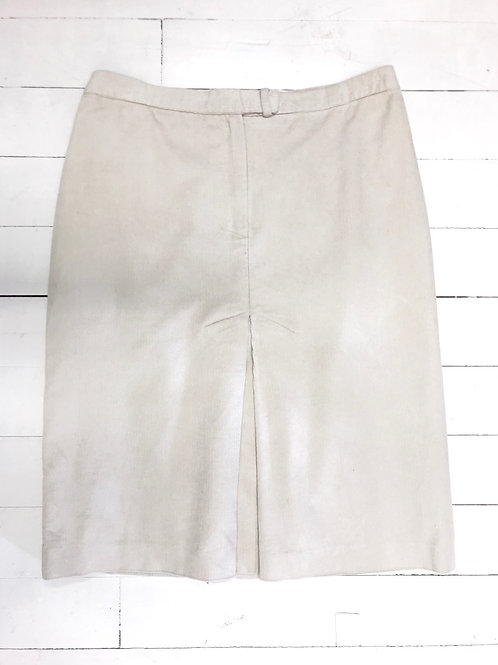 Corduroy Cream Midi Skirt