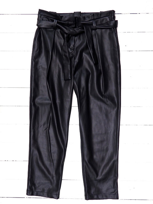 FUTUREAL Faux Leather Paperbag Pants