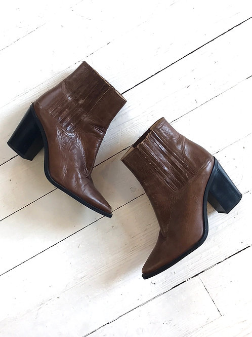 Zara Leather Ankleboots