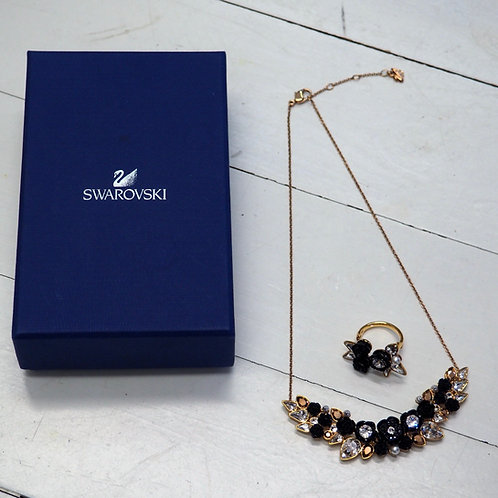 SWAROVSKI Golden/Black Rose Set