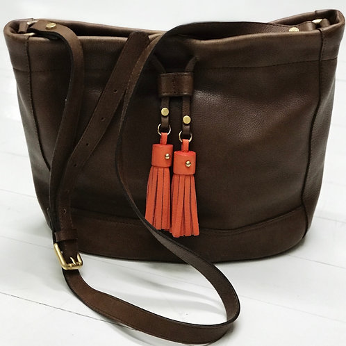 Massimo Dutti Boho Leather Bag