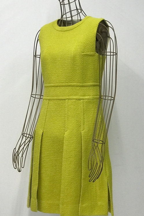 DIANE von FURSTENBERG Lime Wool Dress
