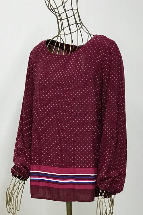 Tommy Hilfiger Dotted and Striped Blouse