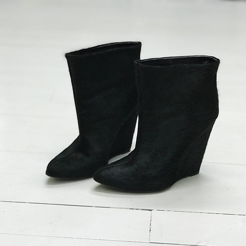 Zara Horse Fur Ankle Boots