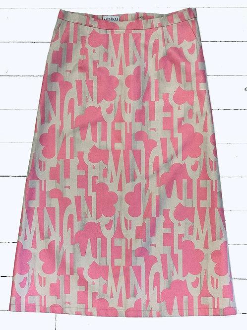 ARTISTA Patterned A-line Skirt