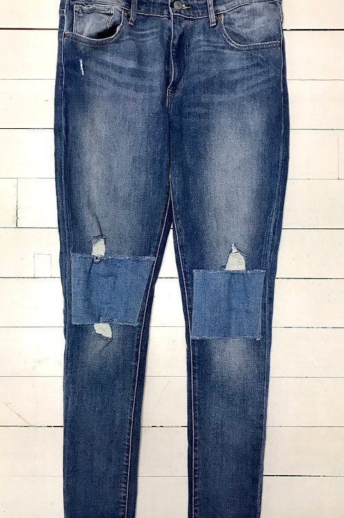 Levi's Patched High Rise Skinny