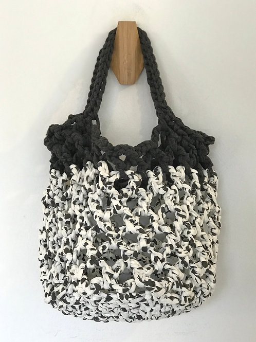 Contrast Knitted Totebag