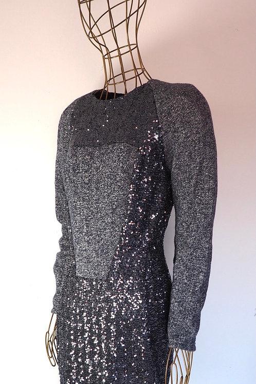 JE SUIS BELLE Glitter/Knit Dress