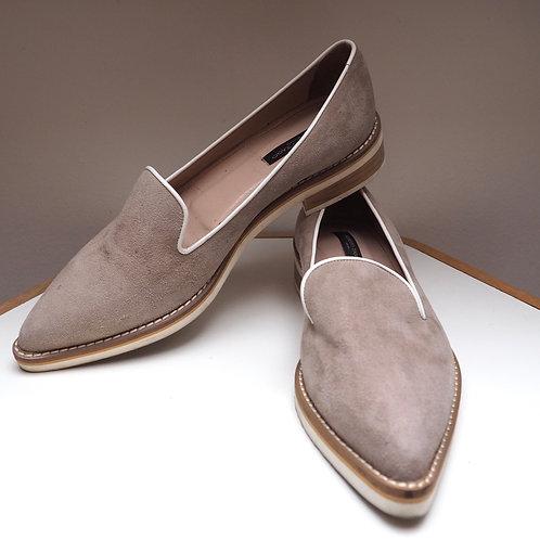 ALBERTO ZAGO Grey Leather Loafer