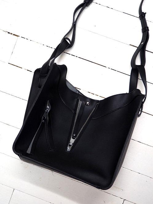 FAUX Leather Zip Crossbody Bag