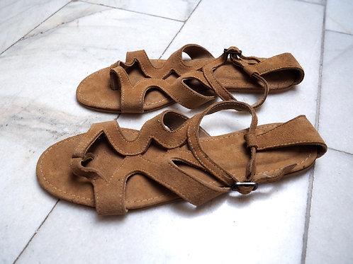 PIECES Suede Leather Gladiators
