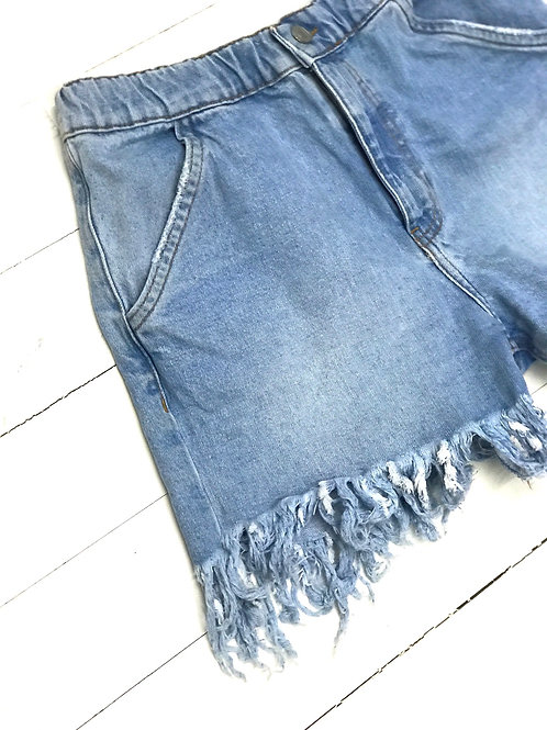 Zara Fringe Denim Short