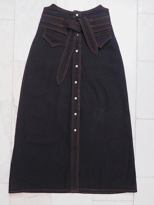 NANUSHKA Denim Midi Skirt