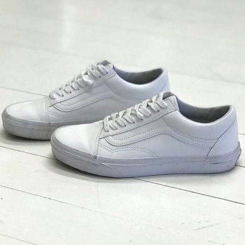 Vans White Leather Sneakers