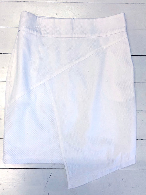 CAKO Asymmetric White Skirt