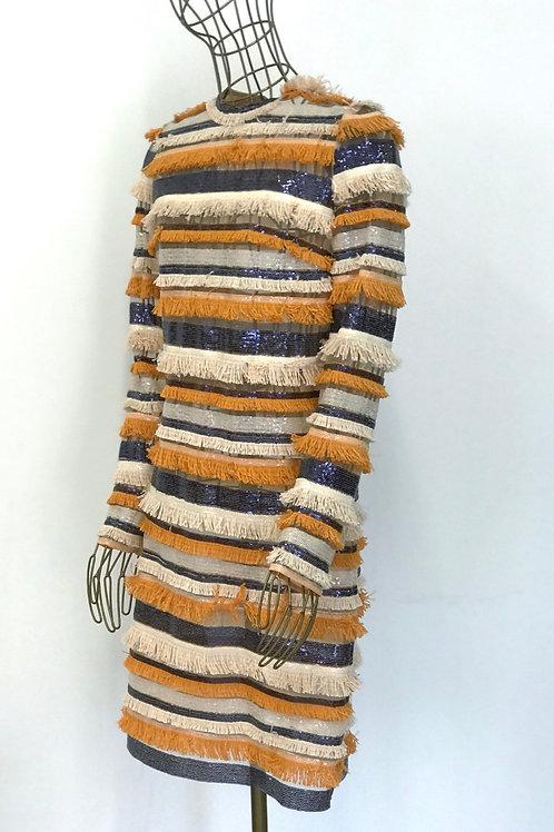USE Fringe Sequin Dress