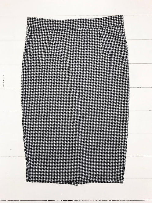 Houndstooth Pencil Reserved Skirt