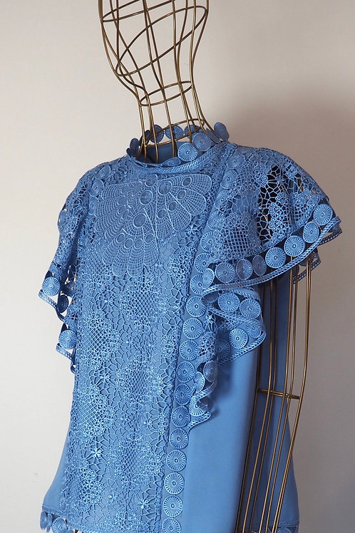 TED BAKER Skyblue Lace Top