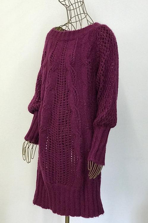 Benetton Purple Loose Knitwear